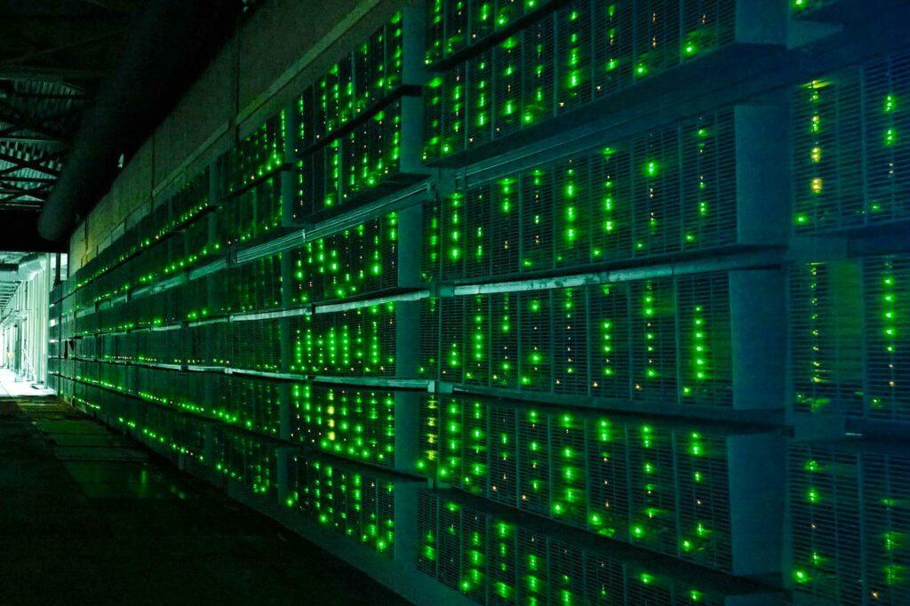 Ferme de minage de crypto Bitcoin